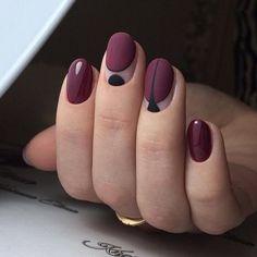 Nail Shapes - My Cool Nail Designs Minimalist Nails, Nagellack Trends, Burgundy Nails, Maroon Nails, Manicure E Pedicure, Super Nails, Stylish Nails, Beautiful Nail Art, Beautiful Pictures