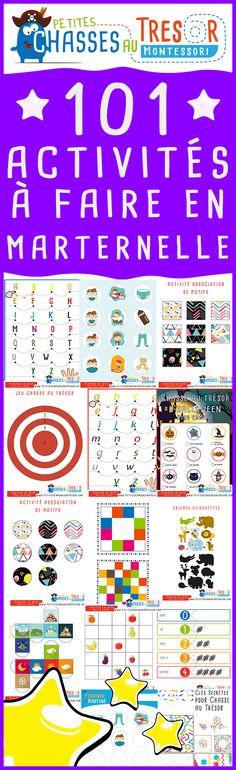 Activités maternelle pour enfant à imprimer. Des kits ludique pour apprendre et découvrir de nouvelles choses chaque jour.