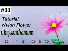 Nylon stocking flowers tutorial #32, How to make nylon stocking flower step by step - YouTube