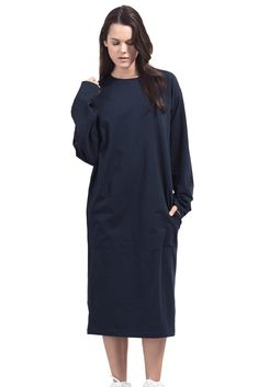 366e302104c Boob Design BFF Organic Oversized Fit Maternity & Nursing Dress (Midnight  Blue)