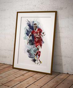 Liverpool striker Sadio Mane poster print for football fans