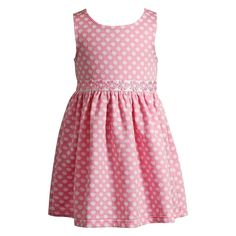 Toddler Girl Youngland Textured Polka-Dot Daisy Dress, Size: 3T, Dark Pink