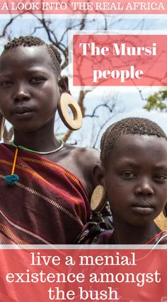 A look into the real Africa. The Mursi People who live a menial existence amongst the bush. Click to read the full travel blog post by the Divergent Travelers Adventure Travel Blog Our Visit to the Omo Valley Tribes of Ethiopia