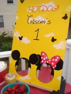 bean bag toss or photo cutout- both cute ideas!- I'm gonna use it for both!!! ;)