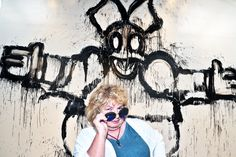 Artist Joyce Pensato at the Opening Reception for I KILLED KENNY at SMMoA on May 31, 2013.