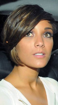 Check out Frankie Sandford's best hairstyles with LOOK's round up of her most stylish hair shades, cuts and colours, so far...