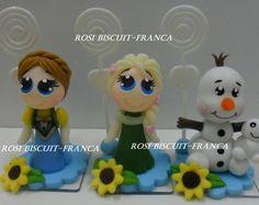 Lembrancinha de biscuit Frozen