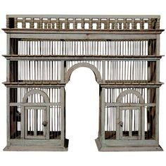 19th Century Architectural Birdcage   From a unique collection of antique and modern bird cages at http://www.1stdibs.com/furniture/more-furniture-collectibles/bird-cages/