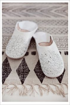 Ivory Marrakech Slippers.