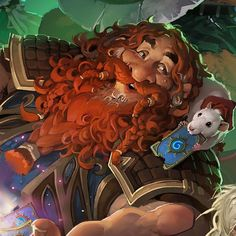 Harth Stonebrew and his pet rat Sarge!  #hearthstone #blizzcon2015 #ldaustin