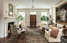 Historical Concepts designs a Greek Revival home with Southern roots. Fireplace Facing, Historical Concepts, Greek Revival Home, Louisiana Homes, Concept Home, Interior Decorating, Decorating Ideas, New Homes, House Styles