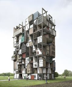 Impossible Architectures: The Works of Filip Dujardin - Sci-Fi-O-Rama Art Et Architecture, Vernacular Architecture, Amazing Architecture, Unusual Buildings, Amazing Buildings, Vertical City, Casa Real, Photocollage, 3d Max