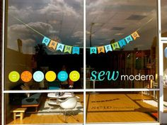 Sew Modern -- Cute little sewing shop in my neck of the woods.  I so feel the need to take a few sewing classes.  For east side girls, Check out Common Thread Studios for something similar!