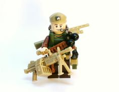 Tactical Beret Army Military Soldier Figure made of Lego pieces and Custom parts, by BrickEclipse