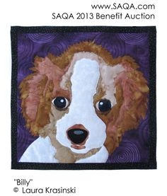 Art quilt by Laura Krasinski Cat Quilt, Quilt Art, Animal Quilts, September 9, Animal Portraits, All Gods Creatures, Mini Quilts, Quilting Ideas, Dog Stuff