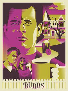 "The Burbs - Ryan Brinkerhoff ""Do Not Mess With Suburbanites"" Print Horror Movie Posters, Movie Poster Art, Horror Movies, Horror Film, The Burbs Movie, The 'burbs, Cult Movies, 80s Movies, Movie Prints"