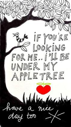 Als je mij zoekt? Ik lig onder mijn appelboom.  | Boomhutaanzee.nl