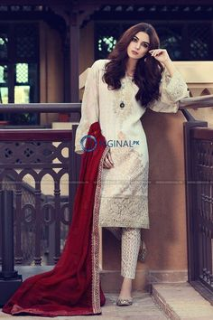 Latest Stitched Maria B Lawn Collection 2017 2018 Gift For You Simple Dresses, Beautiful Dresses, Casual Dresses, Fashion Dresses, Casual Wear, Beautiful Scenery, Stylish Dresses, Formal Wear, Pakistani Dresses Casual
