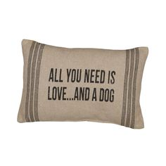 Rustic A Dog Accent Pillow