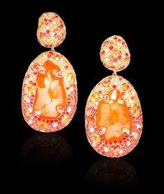 Margot McKinney Baroque Mandarin Garnet Earrings