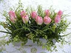 Planter Boxes, Planters, Pink Tulips, Potted Plants, Flower Art, Floral Arrangements, Greenery, Floral Wreath, Shabby Chic