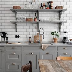 graceful — love subway tile with dark grout ♡