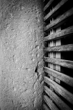 Existing Stone Column with new oak louvered screen Stone Columns, Design Firms, Furniture Design, Architecture, Arquitetura, Stone Pillars, Architecture Illustrations
