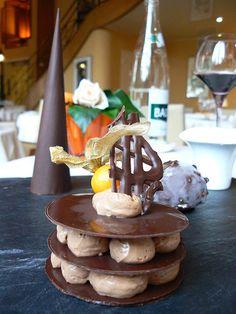 le tout chocolat, dessert au Vilargene, chateau de Montvillargenne - Gouvieux Chantilly France     ♥