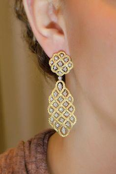 Buccellati .98ctw Diamond Etoilee Dangles | Oster Jewelers