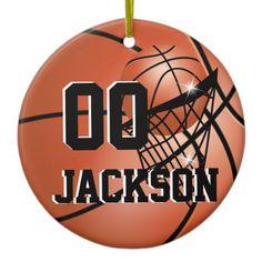 #Personalize Super Star Player #Basketball #Christmas #Ornament #zazzlebesties #zazzle #gifts