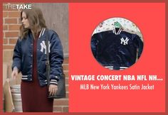 Vintage Concert NBA NFL NHL Shirts MLB New York Yankees Satin Jacket as seen on Mickey Dobbs in Love | TheTake