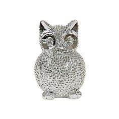 Aus der Kategorie Figuren  gibt es, zum Preis von EUR 7,99  Die HAB & GUT Eule 'OWL' aus verchromtem Kunstharz entzückt durch ihre großen Kulleraugen und die genoppte Oberfläche.<br> <br>Produktdaten:<br> Höhe: 16 cm<br> Breite: 10,5 cm<br> Tiefe: 9 cm<br> <br> Die Eule von HAB & GUT eignet sich mit ihrem plastischen Design perfekt als Dekoration für die moderne Einrichtung.