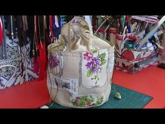 Cesto para labores - YouTube Lunch Box, Make It Yourself, Tote Bag, Purses, Sewing, Youtube, Handmade, Crafts, Bags