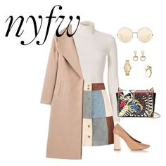 """""""NYFW"""" by therandomalley on Polyvore featuring A.L.C., Boohoo, Chloé, Dsquared2, Victoria Beckham, Gucci and Michael Kors"""