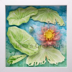 Quilled lotus flower - Created by Inna (Inna's Creations)