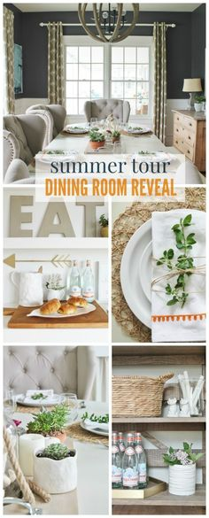 cityfarmhouse Summer Tour-Dining Room Reveal http://cityfarmhouse.com/2015/06/summer-tour-dining-room-reveal.html via bHome https://bhome.us