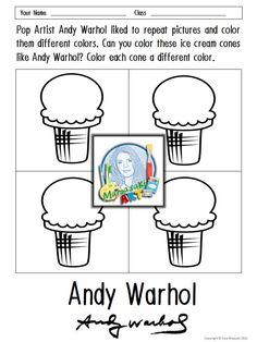free andy warhol coloring sheets coloring pinterest coloring sheets andy warhol and warhol. Black Bedroom Furniture Sets. Home Design Ideas