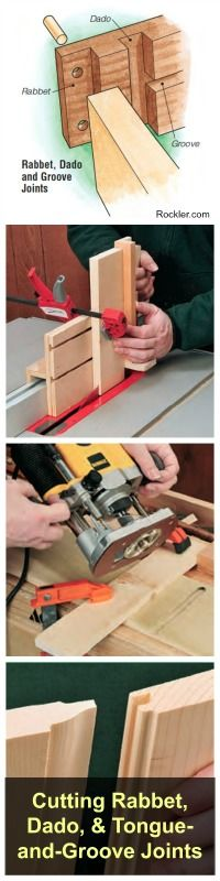 Cutting and Using Simple Rabbet, Dado, and Tongue-and-Groove Joints. Rockler.com Woodworking Tools