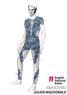 Julien Macdonald has collaborated with English National Ballet and #Swarovski to create ten bespoke costumes for dazzling gala performances at the Queen's Coronation Festival held in the grounds of Buckingham Palace.