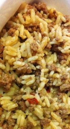 all recipes comfort food: {Southern Style} Dirty Rice Cajun Dishes, Rice Dishes, Seafood Dishes, Pasta Dishes, Healthy Recipes, Beef Recipes, Healthy Southern Recipes, Delicious Recipes, Fast Recipes