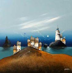 Gary Walton original 'Harbour Lights'