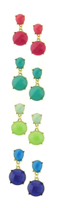 If all the raindrops were lemon drops and gum drops, oh what a rain it would be!  Gumdrop Earrings from SwellCaroline.com