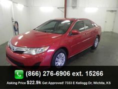 2013 Toyota Camry LE Sedan  Center Console - Full With Covered Storage, Passenger Airbag, Front Seat Type - Bucket, External Temperature Display, Tachometer, Dusk Sensing Headlights,
