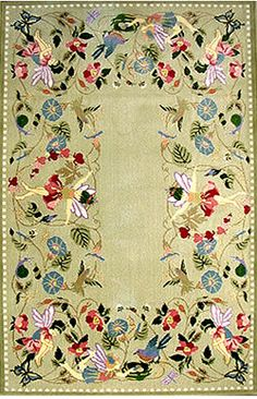 "Claire Murray 'Fairy Frolic' Rug (4' x 6') | I have this sweet rug in my  ""overnight visits"" room for my granddaughters"