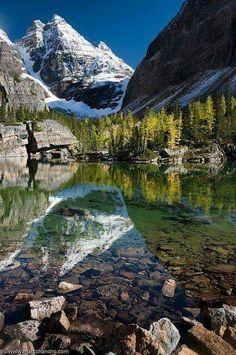 Victoria Lake in Yoho National Park, Canada