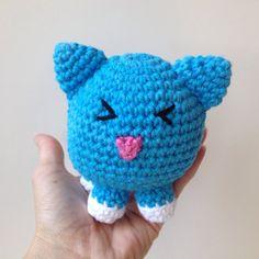 Crochet Blue Cat Amigurumi Kitty by pigswife on Etsy, $15.00