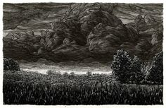 """Storm Four"" by Taylor Mazer, pen and ink"