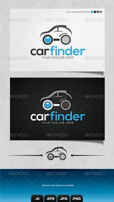 Car Finder Logo — Transparent PNG #find #engine • Available here → https://graphicriver.net/item/car-finder-logo/4148376?ref=pxcr