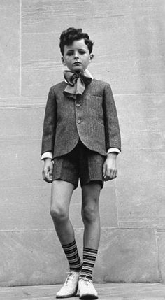 School boy in his uniform, 1930′s bartholomew, forget 1st name