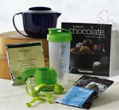 Tupperware Chocolate Martini Gift Set Quick Shaken, not stirred Includes 1-Qt./1 L Micro Pitcher, Measuring Cups, Measuring Spoons, Quick Shake® Container, Savor Chocolate Recipe Booklet (featuring 30-day Free Replacement Guarantee.), 2-oz./56 g package of Simple Indulgence Cinnamon-Vanilla Seasoning Blend and 8-oz./227 g package of Simple Indulgence Chocolate Dessert Blend . www.my.tupperware.com/catherineboltz
